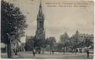 AK Mülhausen Mulhouse Friedensplatz mit Stephanskirche und Menschen Elsass Frankreich 1910