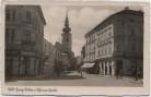 AK Foto Wels Georg Ritter v. Schönererstraße Geschäfte Menschen Oberösterreich Österreich 1935 RAR