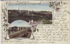 AK Gruss aus Großbothen Bahnhof Totale Jugendstil Grimma 1907 RAR