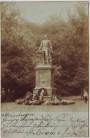 AK Foto Meiningen Herzog Bernhard Erich Freund Denkmal mit Kränzen Menschen 1904