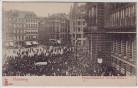 AK Hamburg Promenaden Konzert vor dem Rathaus viele Menschen 1910
