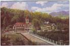Künstler-AK Bad Blankenburg Sanatorium am Goldberg Thüringer Wald 1920