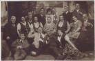 AK Foto Weißenfels Gruppenfoto Gesellschaft 1920