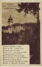AK Marienbad Mariánské Lázně Cafe Restaurant Forstwarte mit Gedicht Böhmen Tschechien 1930