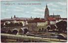 AK Frankfurt am Main Alte Brücke mit der Brückenmühle 1913