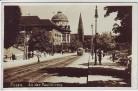 AK Foto Posen Poznań An der Paulikirche Straßenansicht Feldpost Polen 1940