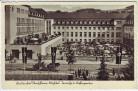 AK Radiumbad Oberschlema Kurhotel Terrasse und Kaffeegarten Fahnen Bad Schlema 1940