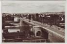 AK Foto Regensburg Adolf-Hitler-Brücke mit Schottenheimsiedlung Bahngleis 1940