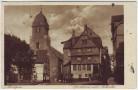 AK Monschau Montjoie Sparkasse und Aukirche Eifel 1928