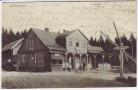 AK Friedrichroda Heuberghaus mit Menschen 1900