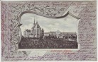 AK Passepartout Luftkurort Astenet Katharinenstift Wallonien Belgien 1902 RAR