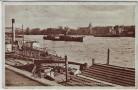 AK Magdeburg Elbansicht m. Nordbrücke u. Werder Schiffe 1935