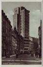 AK Stuttgart Tagblatt-Hochhaus Autos Menschen 1930