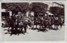 AK Foto Halberstadt Festumzug Polizei auf Pferd viele Menschen 1935 RAR