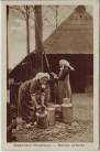 AK Brabantsch Dorpsleven Kannen schuren Frauen in Tracht Niederlande 1926