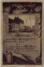 AK Plzen Pilsen Diplom Bierfass Král Ječmínek Tschechien 1920