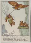 Künstler-AK Aquarell Flieger-Humor Nr. H IV/1 1940