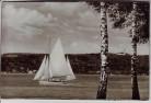 AK Foto Ammersee Segelschulschiff Albatros unterm Klosterberg Andechs Utting 1950