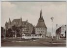 AK Foto Rostock Am Steintor mit Strassenbahn 1964