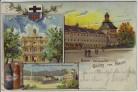 AK Gruss vom Rhein Bonn Universität Koblenz Oberlahnstein 1900