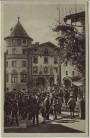 AK Berchtesgaden Marktplatz Sonntags Viele Männer 1934