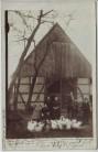 AK Foto Wadersloh in Westfalen Hausansicht mit Menschen Gänse 1914 RAR