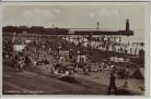 AK Foto Bremerhaven Am Weserstrand mit vielen Menschen 1933