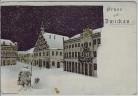 Künstler-AK Gruss aus Zwickau Winter bei Nacht Nachtwächter Verlag Ullmann 1900 RAR