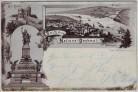 AK Gruss vom National-Denkmal Rüdesheim Bingen 1900
