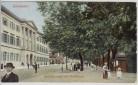 AK Wiesbaden Wilhelmstrasse mit Promenade Menschen 1910