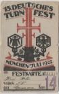 Künstler-Festkarte München 13. Deutsches Turnfest 1923