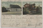 AK Gruss aus Mulda Egg's Gasthof Schweizerhaus Kirche Sachsen 1905 RAR
