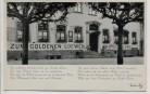 AK Sankt Goar Hotel Zum goldenen Löwen mit Lied 1940
