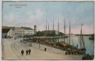 Präge-AK Seebad Swinemünde Hafen mit Schiffen Pommern Świnoujście Polen 1910