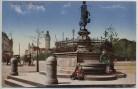 AK Leipzig Mägdebrunnen am Roßplatz mit Kindern Feldpost 1917