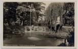 AK Foto Gellertstadt Hainichen Goldfischteich im Stadtpark 1940