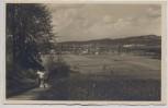 AK Foto Saalfeld an der Saale Blick von der Friedenshöhe 1934