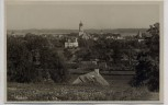 AK Foto Aichach Ortsansicht mit Bahngleis 1933