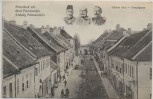 AK Festung Peterwardein Hauptgasse Petrovaradin b. Neusatz Novi Sad Serbien Feldpost 1917 RAR