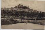 AK Braunfels Ortsansicht mit Schloß vom Weiher aus 1914