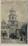 AK Braunfels Glockenturm mit Menschen 1914