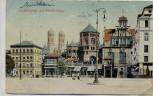 AK München Lenbachplatz mit Künstlerhaus 1913
