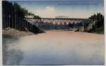VERKAUFT !!!   AK Bobertalsperre mit Eisenbahnbrücke und Zug bei Hirschberg Jelenia Góra Schlesien Polen 1916 RAR