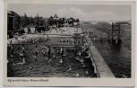 AK Foto Schwedt/Oder Strandbad mit vielen Menschen 1941 RAR
