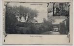 AK Gruss aus Brügge (Holstein) Eiderbrücke mit Grabstätte b. Neumünster 1912 RAR