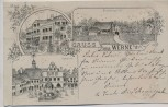 AK Gruss aus Werne in Westfalen Marktplatz Logirhaus Frohning's Hof 1898
