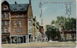 AK Gnesen Gniezno Poststraße mit evangl. Schule Posen Polen Feldpost Stempel Kriegsgerichtssekretär Werner 1914 RAR