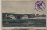 AK Warschau Warszawa Gesprengte Brücke Nowy Most 1. WK Stempel Königlich Preussisches Gericht Feldpost 1915