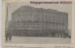 AK Białystok Hotel Ritz Stempel Königlich Preussisches Gericht Kriegsgerichtssekretär Werner Feldpost Polen 1915 RAR