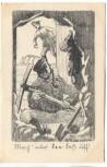 Künstler-AK Feldpostkarte R. Blumenschein Soldaten mit Hacke Spaten 1914